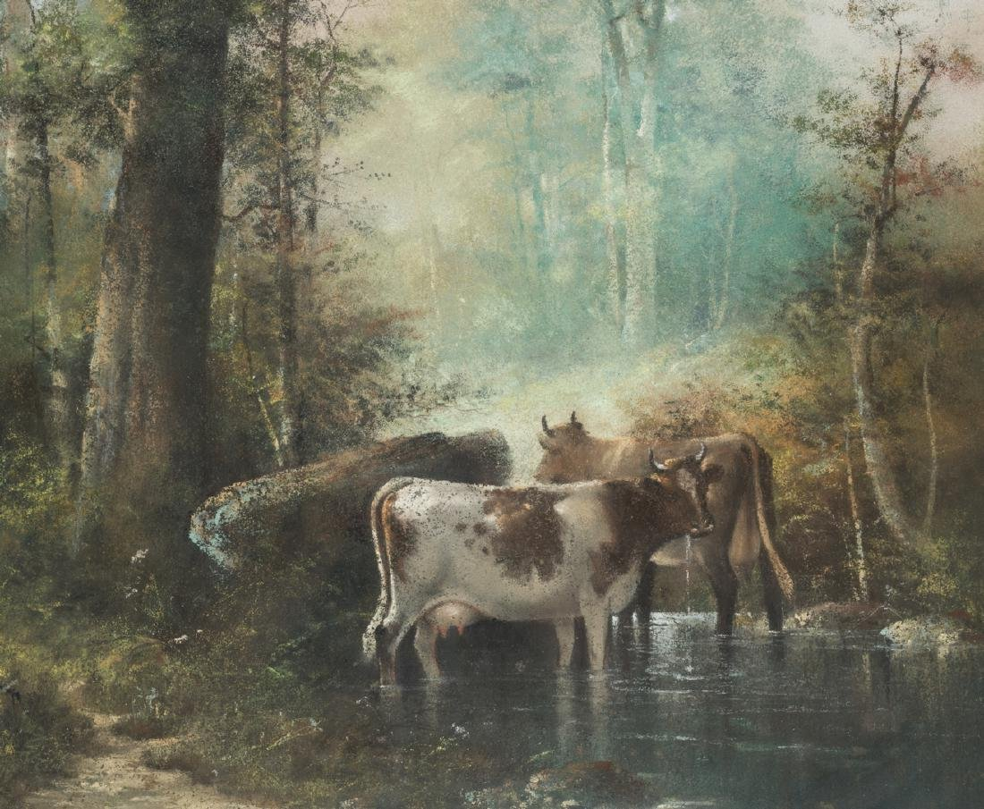 Catherine Nichols, Pastel Landscape with Cows - 4