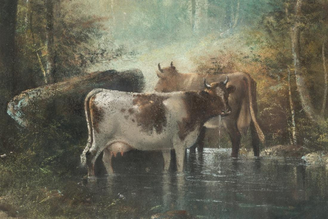 Catherine Nichols, Pastel Landscape with Cows - 5