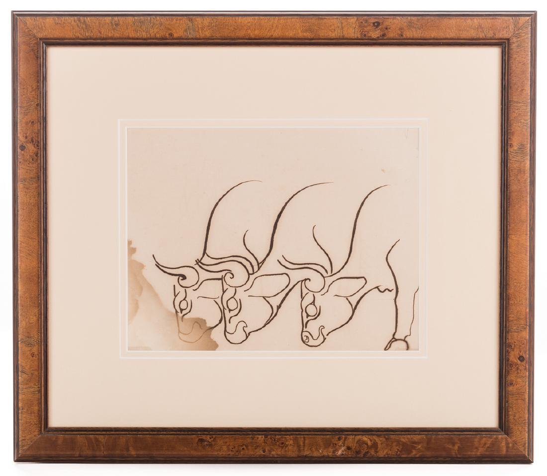 Walter Anderson Drawing, Cattle