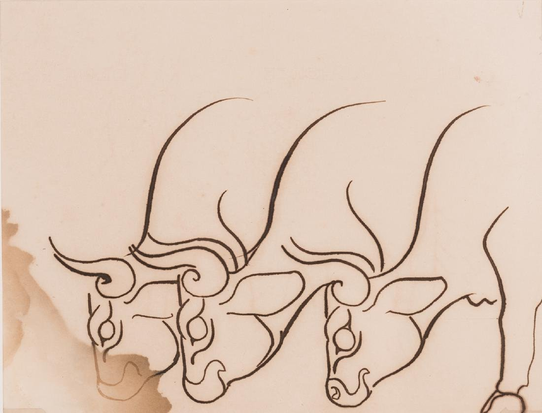 Walter Anderson Drawing, Cattle - 2
