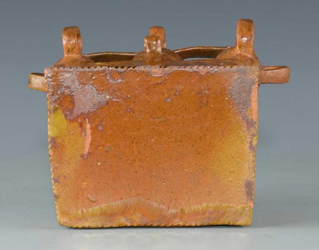 Folk Art Pottery Ink Well, possibly Southern - 10