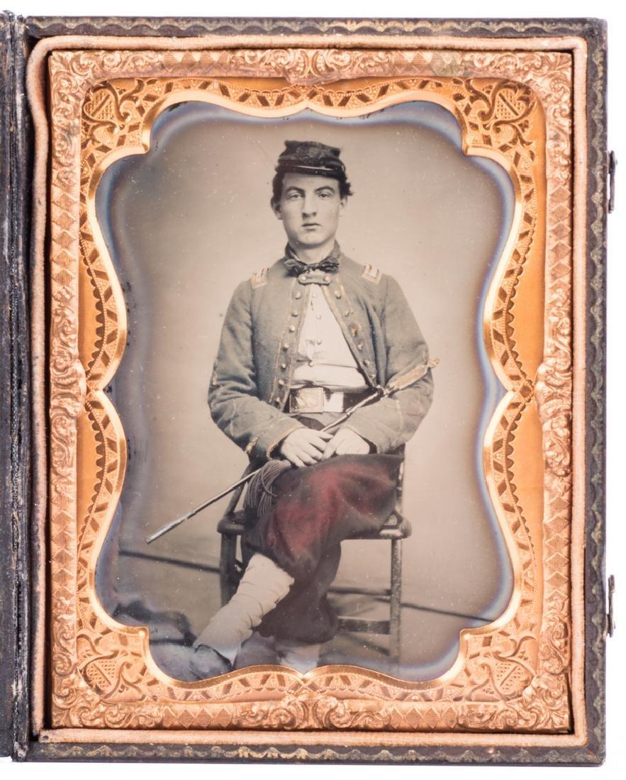 Confederate Zouave Ambrotype, Quarter Plate - 2