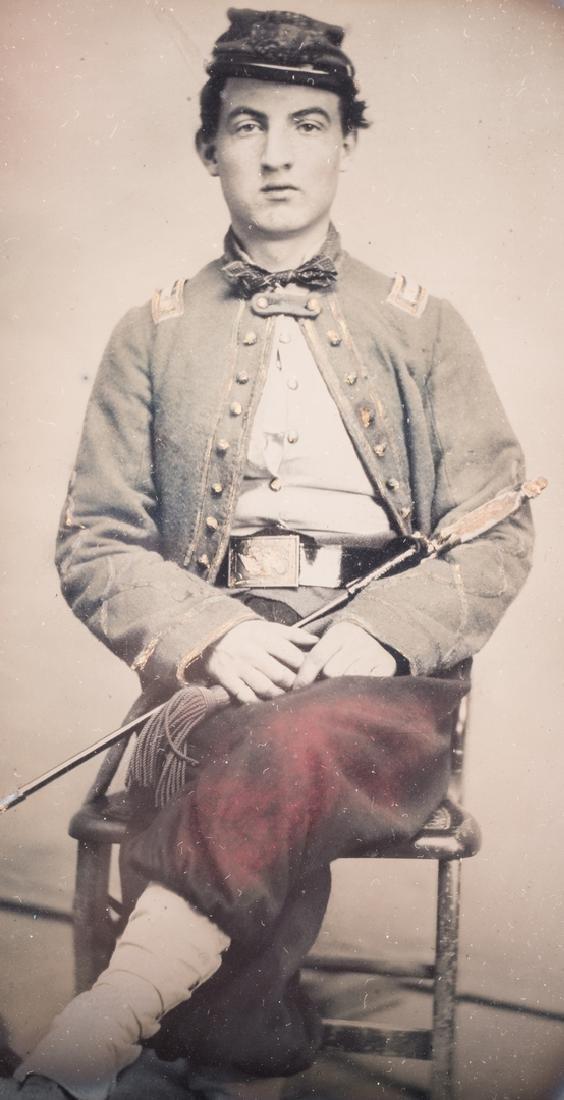 Confederate Zouave Ambrotype, Quarter Plate - 3