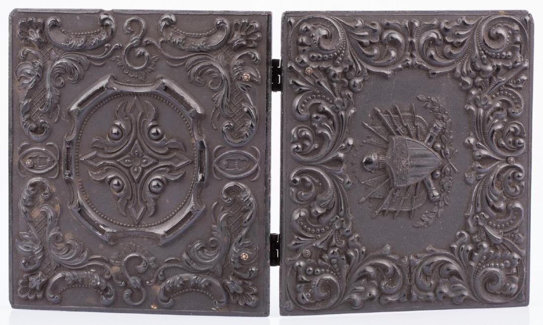 2 Civil War Union Tintypes, Patriotic Cases - 10