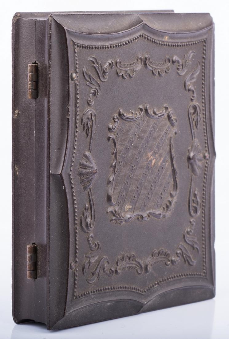 2 Civil War Union Tintypes, Patriotic Cases - 6