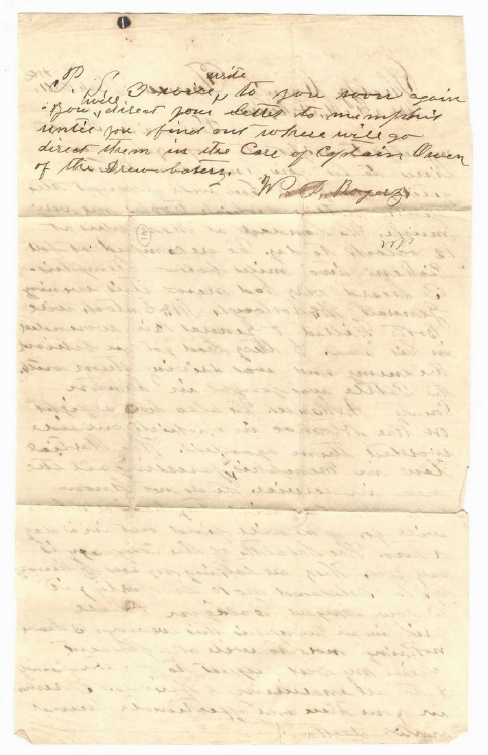 9 Civil War Confederate Letters, Cpl. W. J. Rogers, - 10