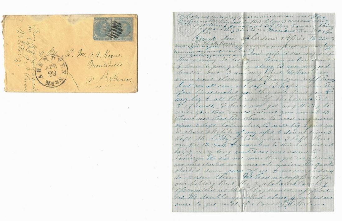 9 Civil War Confederate Letters, Cpl. W. J. Rogers,