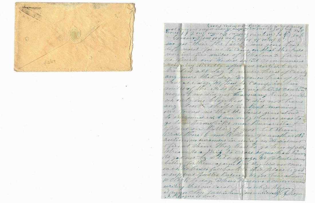 9 Civil War Confederate Letters, Cpl. W. J. Rogers, - 2