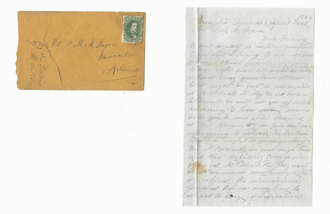 9 Civil War Confederate Letters, Cpl. W. J. Rogers, - 3