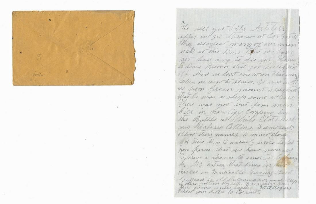 9 Civil War Confederate Letters, Cpl. W. J. Rogers, - 4