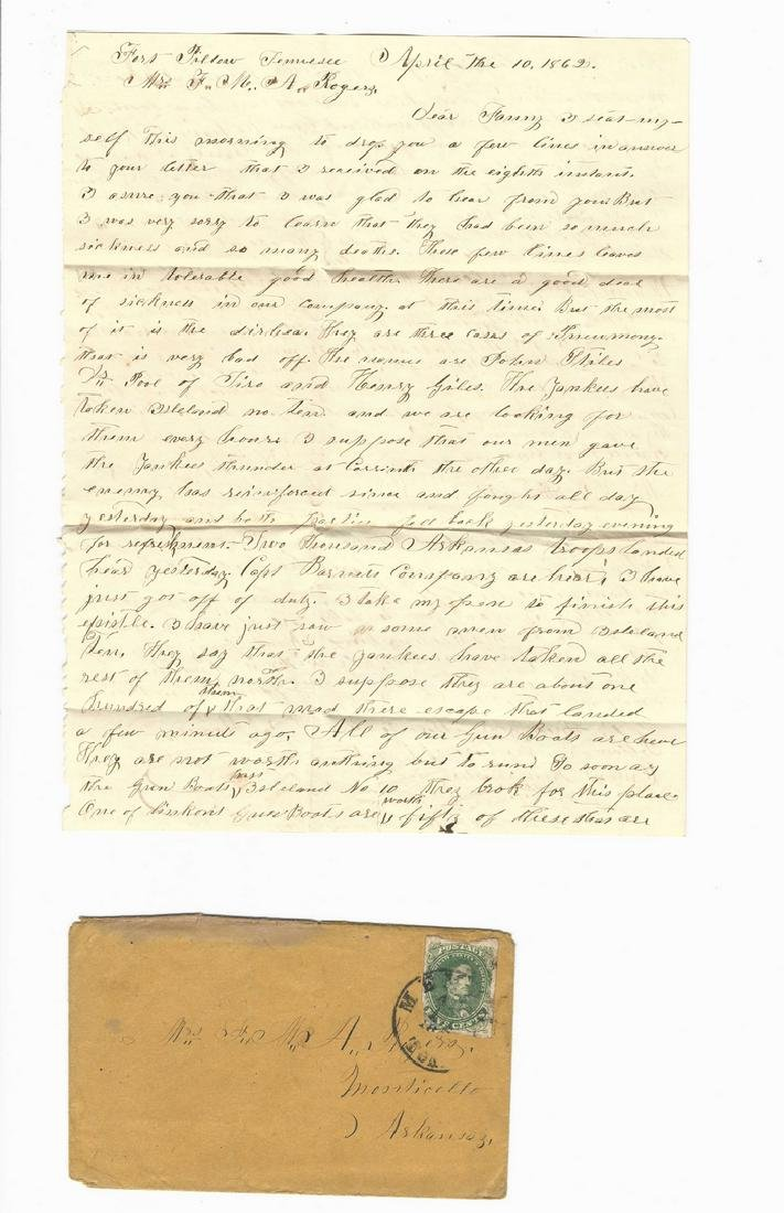 9 Civil War Confederate Letters, Cpl. W. J. Rogers, - 5