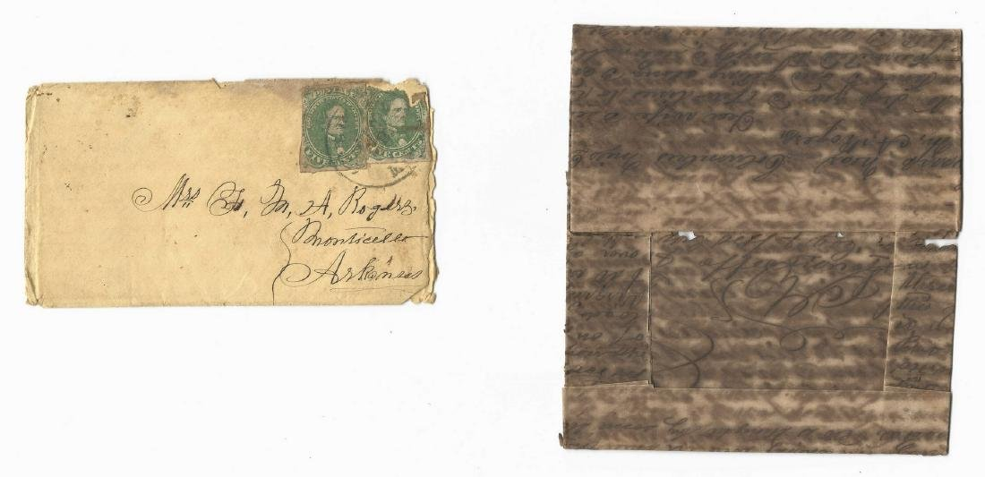 9 Civil War Confederate Letters, Cpl. W. J. Rogers, - 7