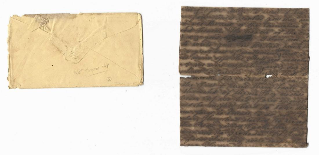 9 Civil War Confederate Letters, Cpl. W. J. Rogers, - 8