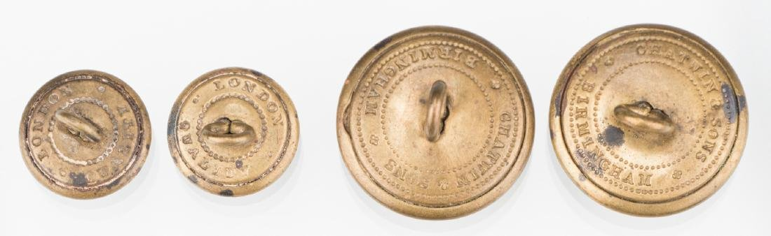 4 Rare Confederate Uniform Buttons, Chatwin & Sons, - 5