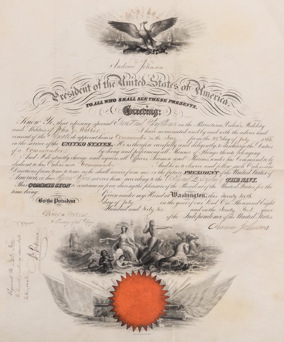 2 President Andrew Johnson War Commission Documents: - 2