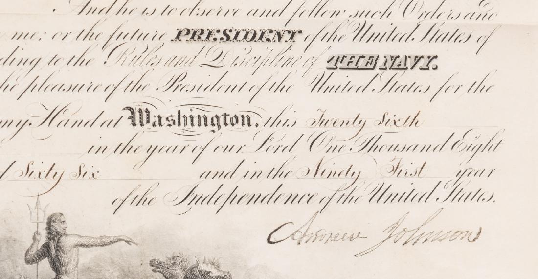 2 President Andrew Johnson War Commission Documents: - 4