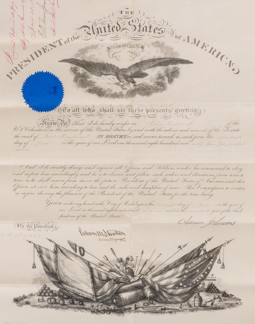 2 President Andrew Johnson War Commission Documents: - 5