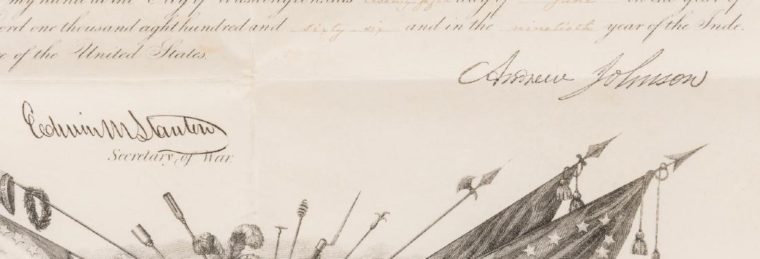 2 President Andrew Johnson War Commission Documents: - 6