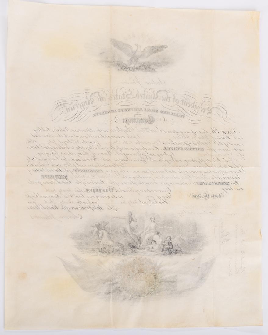 2 President Andrew Johnson War Commission Documents: - 8