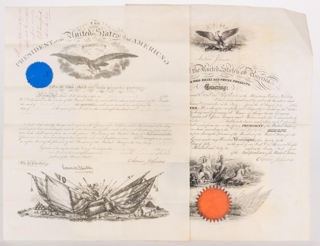 2 President Andrew Johnson War Commission Documents: - 9