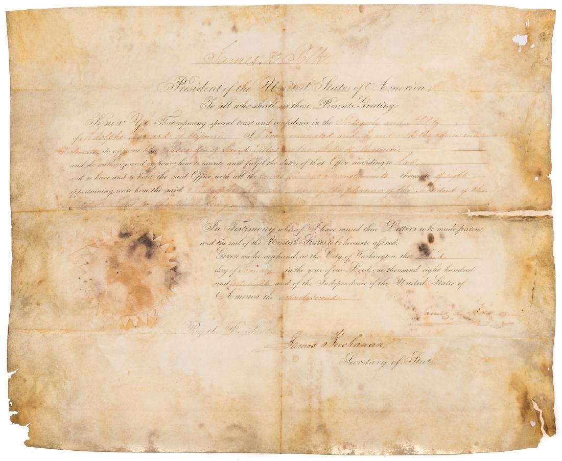President Polk and Buchanan Signed Document, 1848 - 2
