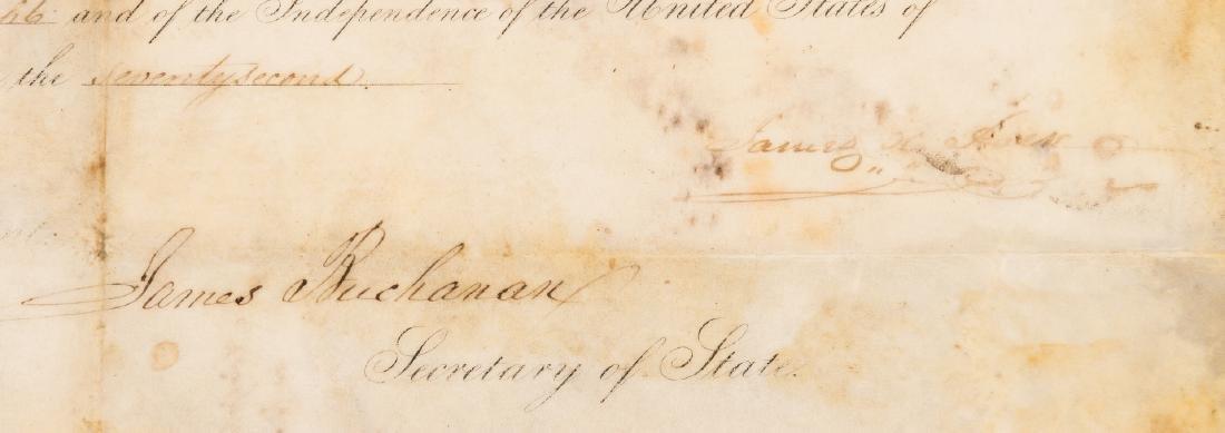 President Polk and Buchanan Signed Document, 1848 - 3