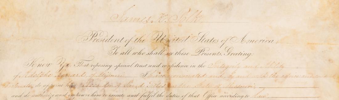 President Polk and Buchanan Signed Document, 1848 - 4
