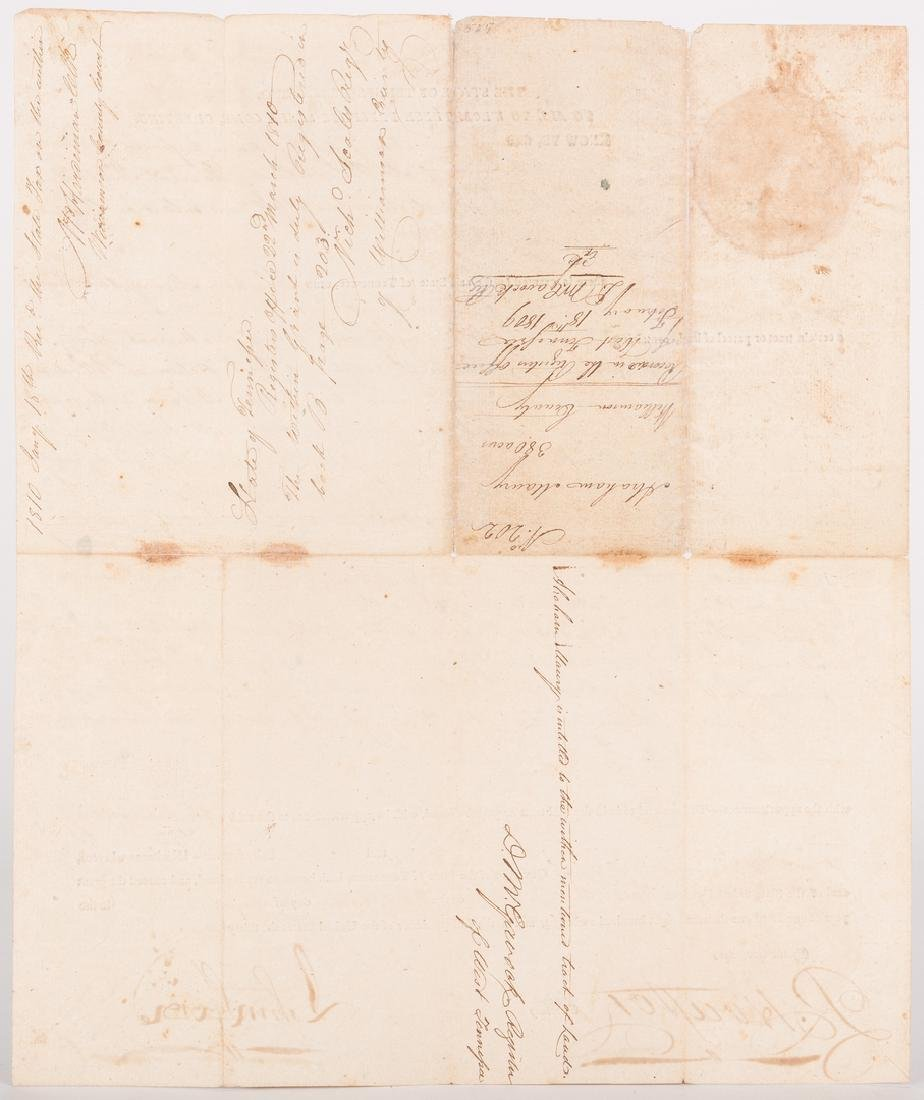 John Sevier Signed Land Grant & Sheriff Summons, 2 - 10