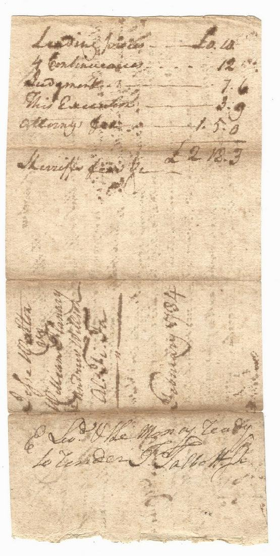 John Sevier Signed Land Grant & Sheriff Summons, 2 - 3