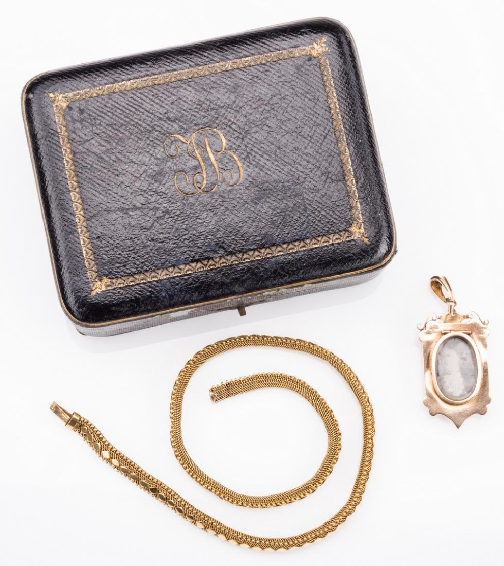 French 18k Victorian Gold Necklace, Locket - 4