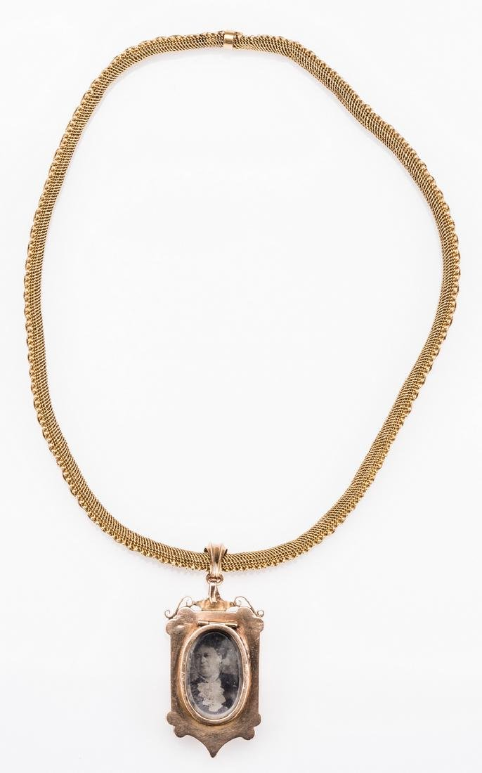 French 18k Victorian Gold Necklace, Locket - 5