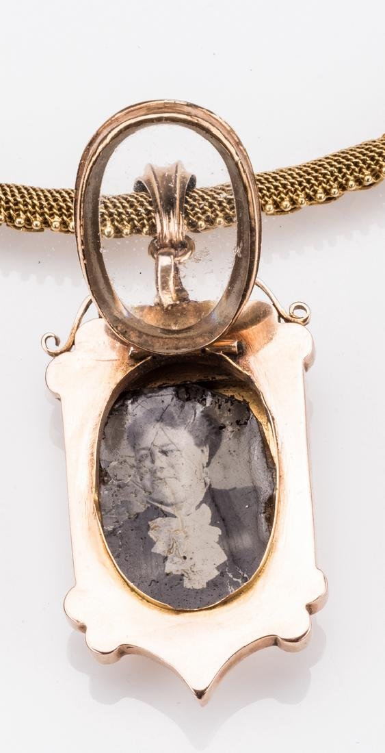 French 18k Victorian Gold Necklace, Locket - 6