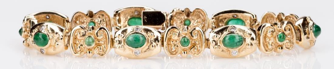 14K Emerald Bracelet, 23. 8 grams