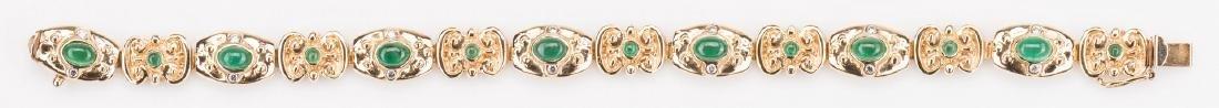 14K Emerald Bracelet, 23. 8 grams - 2