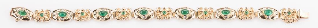 14K Emerald Bracelet, 23. 8 grams - 3