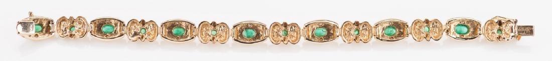 14K Emerald Bracelet, 23. 8 grams - 4