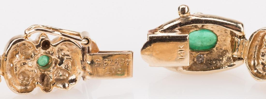 14K Emerald Bracelet, 23. 8 grams - 5