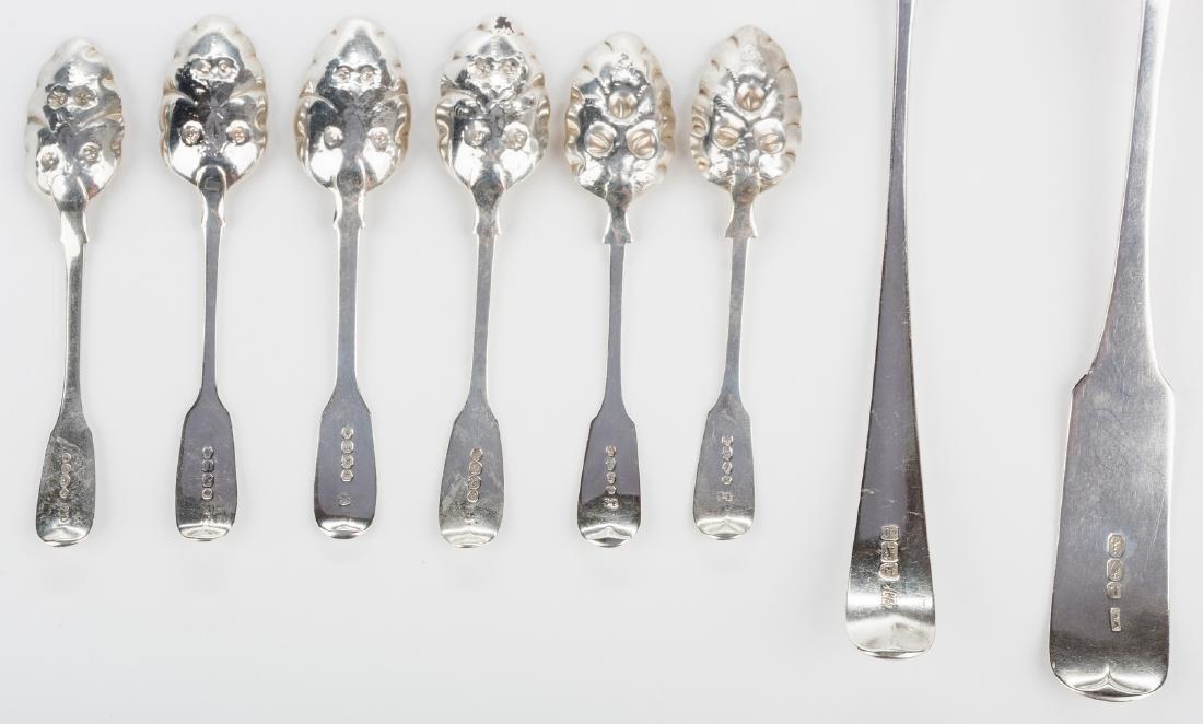 8 English silver spoons, inc. Hester Bateman - 4