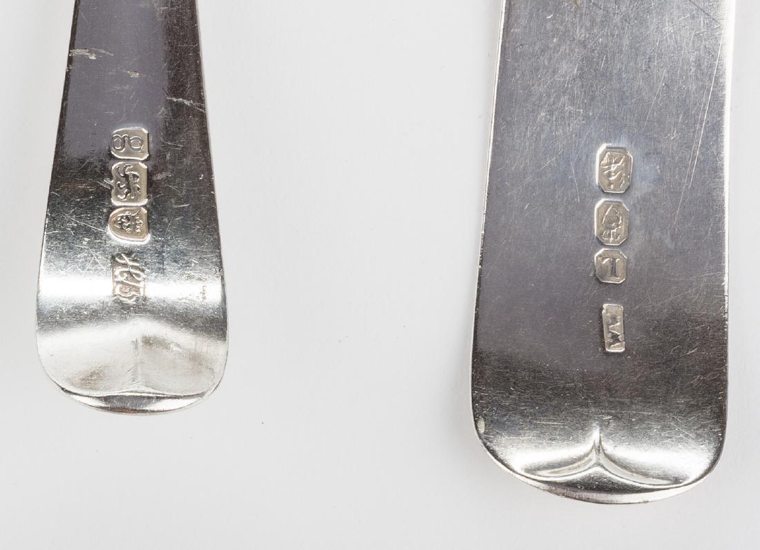 8 English silver spoons, inc. Hester Bateman - 5