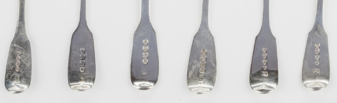 8 English silver spoons, inc. Hester Bateman - 6