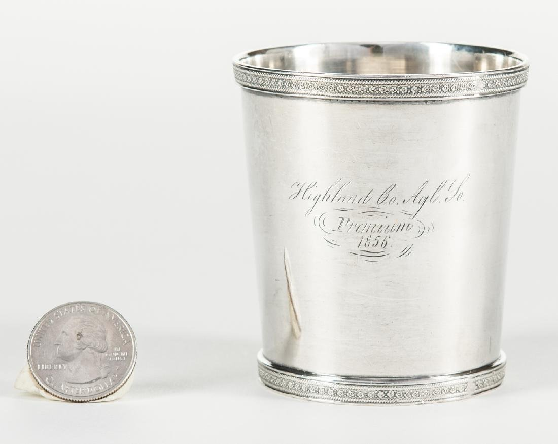 1856 Agricultural Coin Silver Julep - 7