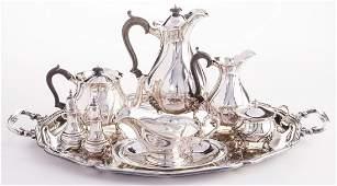 6 pc English Sterling Tea Set plus more 11 total