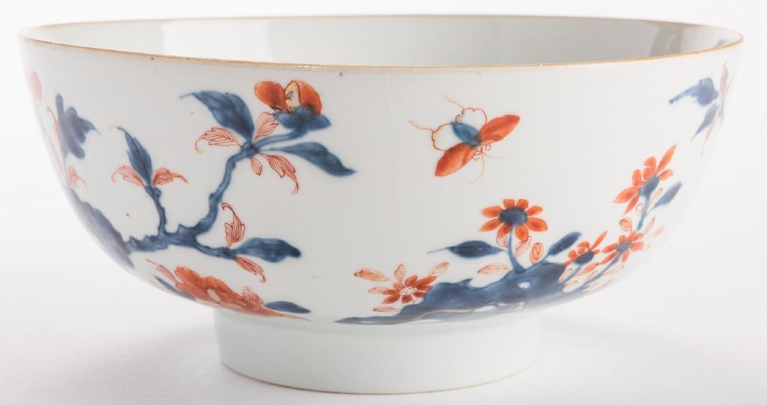 2 large Chinese Imari Export Porcelain Footed Bowls, - 10