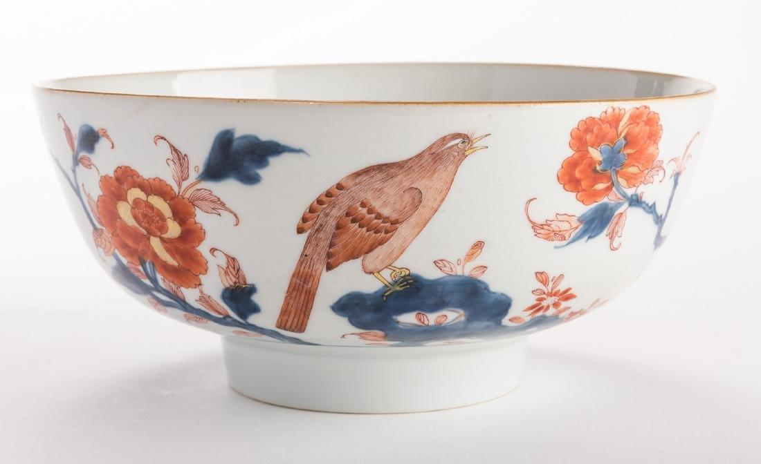 2 large Chinese Imari Export Porcelain Footed Bowls, - 8