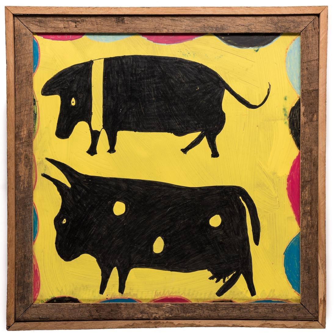 3 R. A. Miller Folk Art Plaques - 2