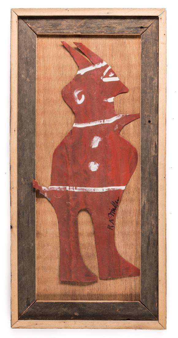 3 R. A. Miller Folk Art Plaques - 3