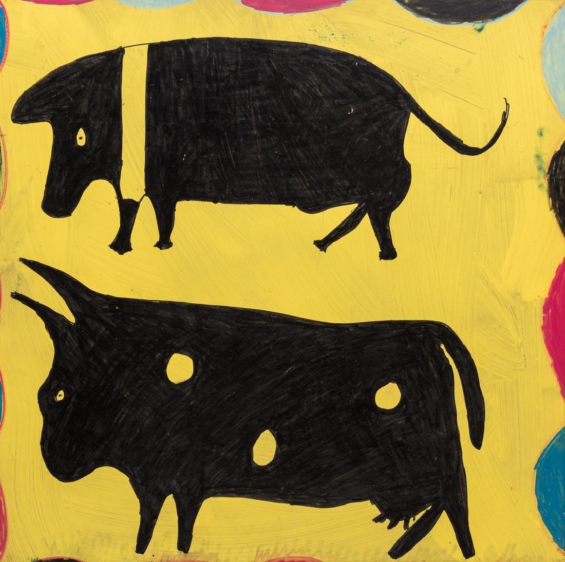 3 R. A. Miller Folk Art Plaques - 7
