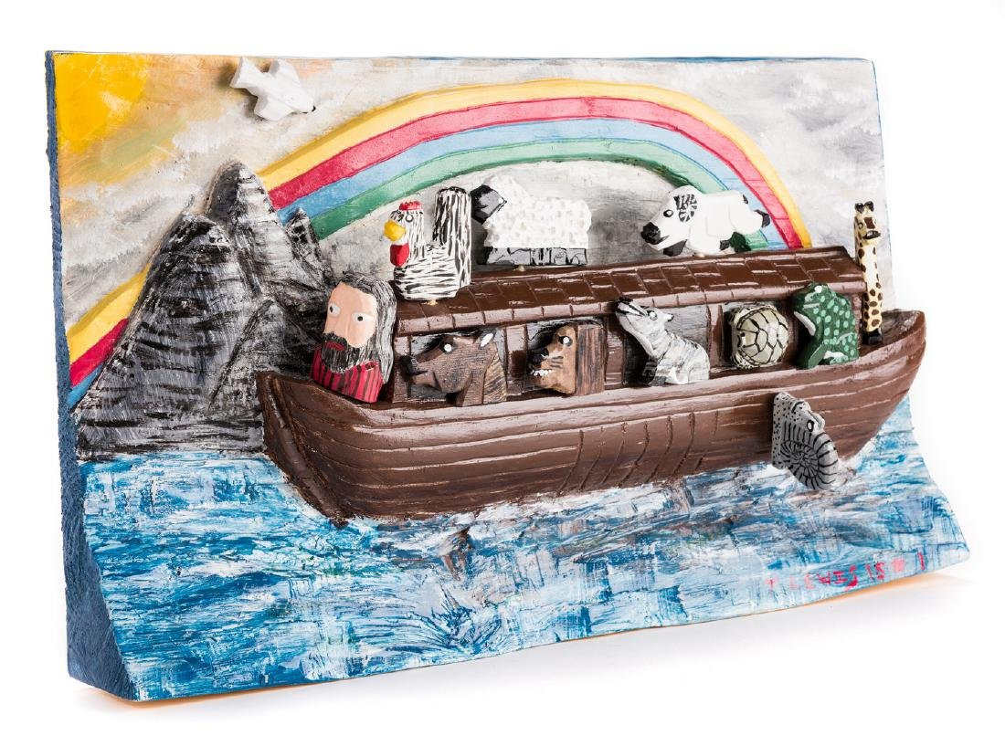 Tim Lewis Relief Carving, Noah's Ark - 10