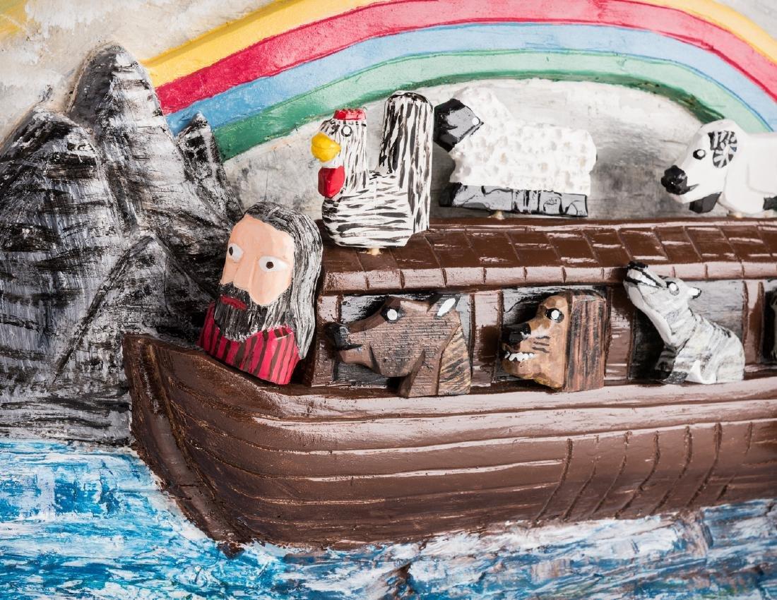 Tim Lewis Relief Carving, Noah's Ark - 4