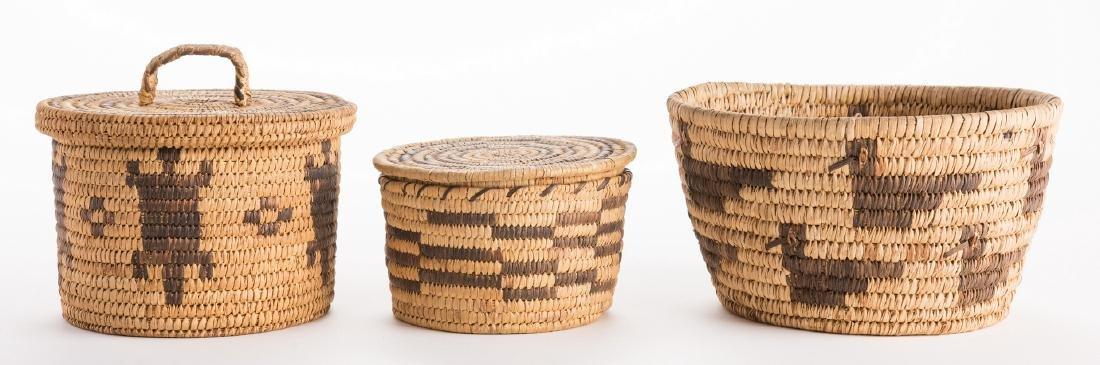 6 Native American Papago Baskets - 2